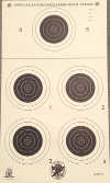 NRA Official 50-Yard Smallbore Rifle Target, 5-Bullseye Tournament Style