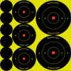 Shoot-N-C Assorted 1-inch, 2-inch, and 3-inch Bullseye Targets
